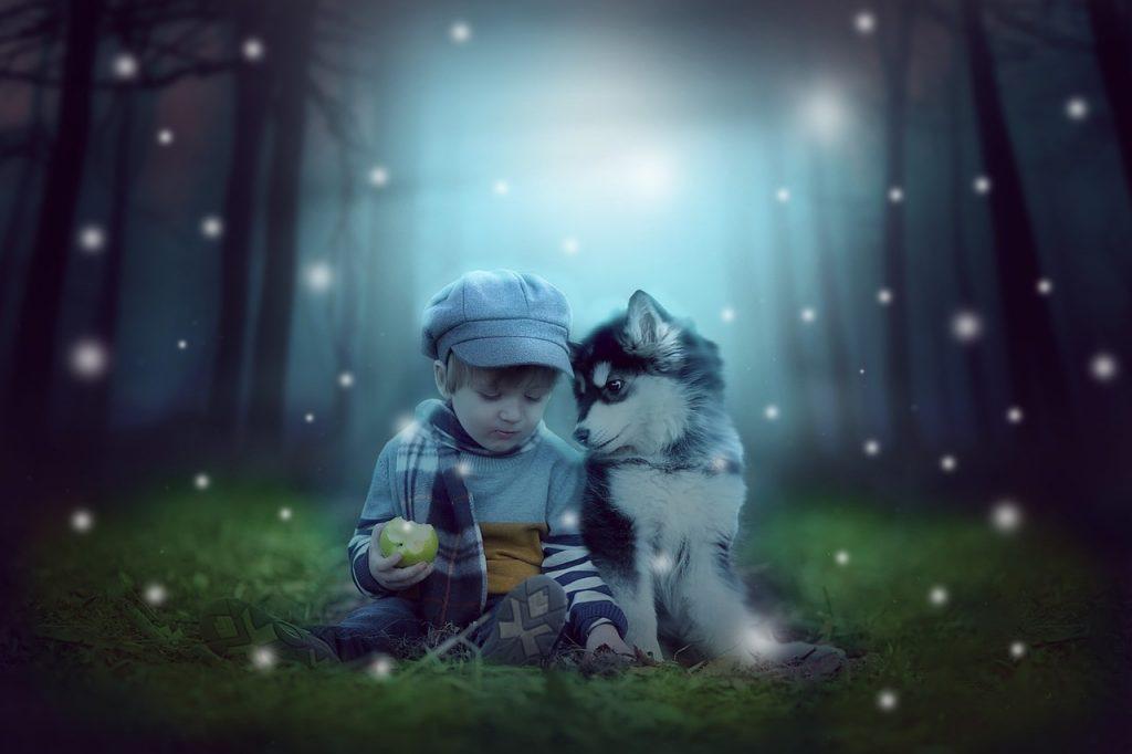 kutya - gyerek barátság